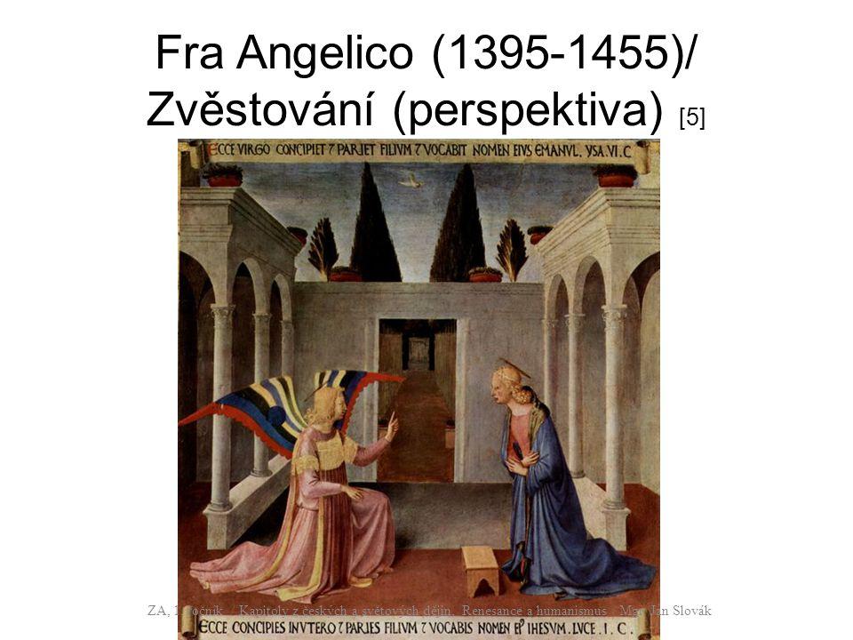Fra Angelico (1395-1455)/ Zvěstování (perspektiva) [5]